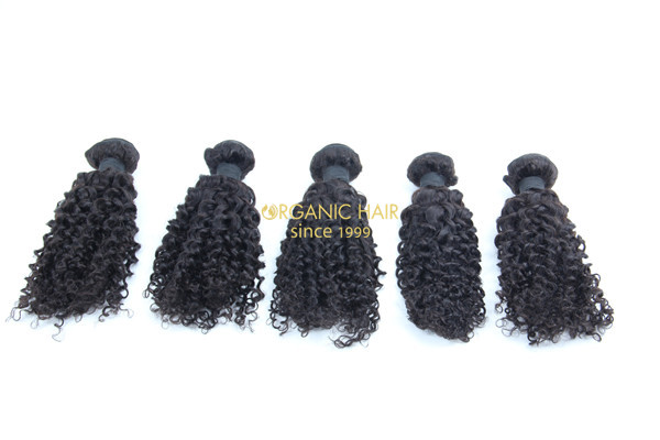 Brazilian afro kinky curly human hair extensions
