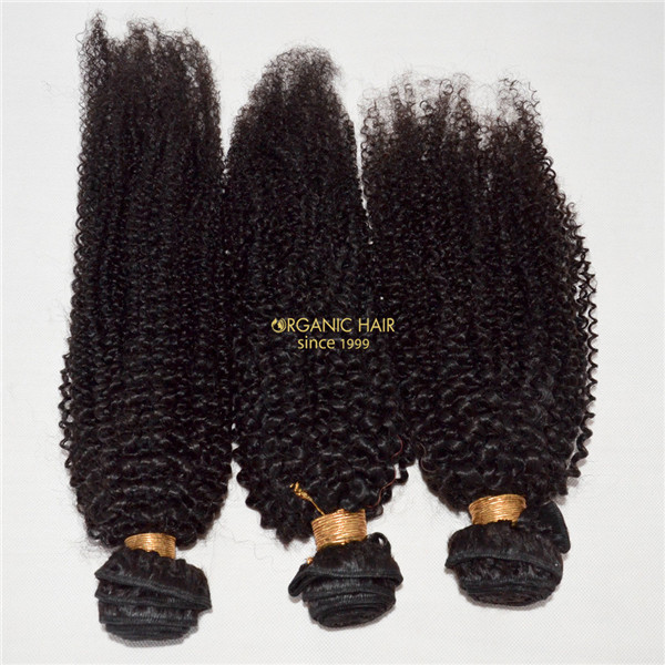 Cheap Afro Kinky Curly Human Hair Extensions For Uk Market Black