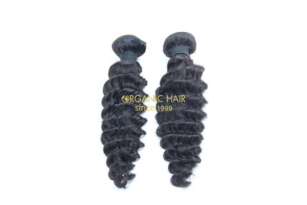 Cheap deep wave real human hair extensions