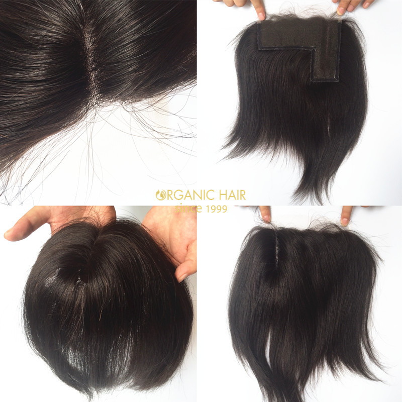 The hot sale best hair L part lace closure