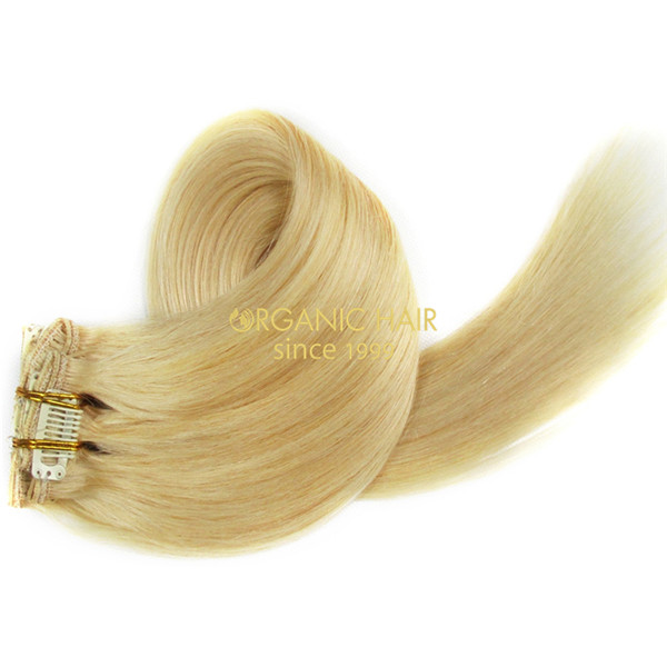 Wholesale Remy Hair Blonde Clip In Hair Extensions 613 Factory