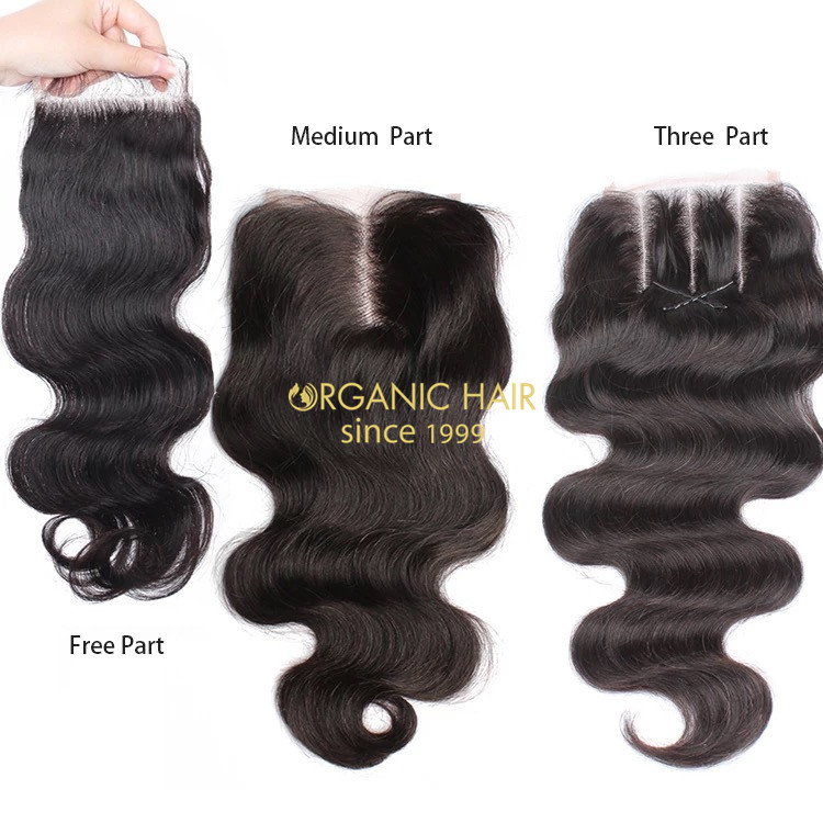 Real human hair pieces Lace Closure Body Wave