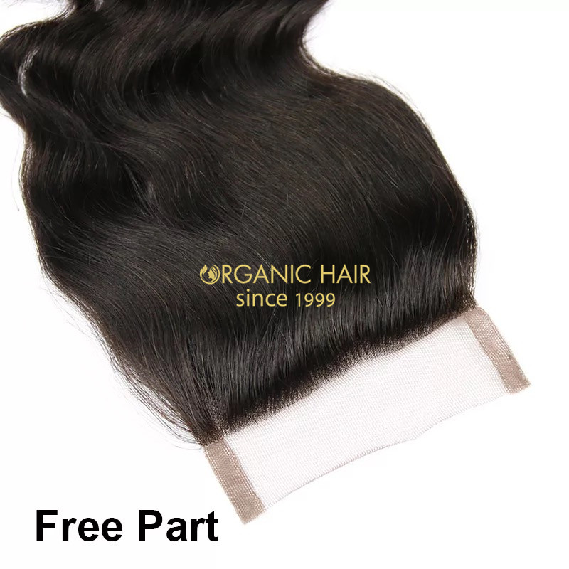 Brazilian virgin human hair pieces lace closure