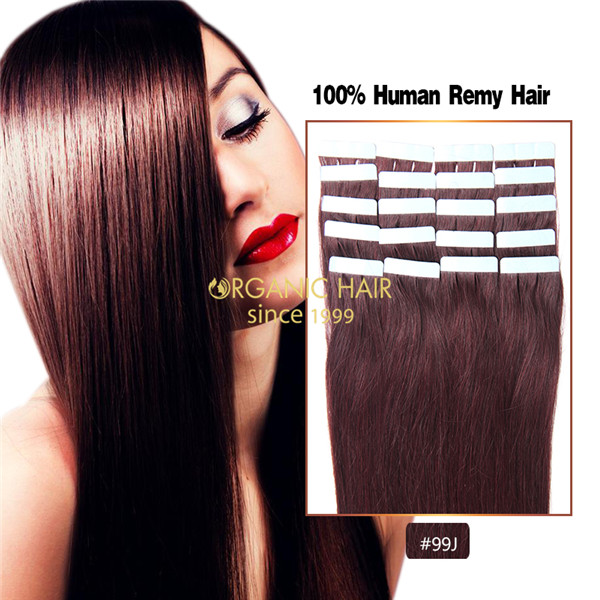 Real hair extensions seamless tape hair extensions