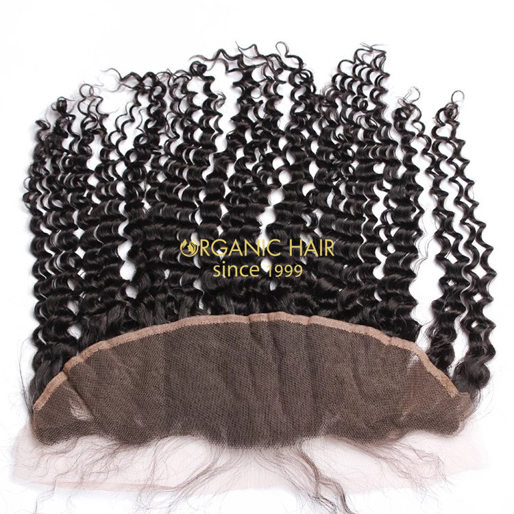 Large stock loose curly lace frontal real hair pieces